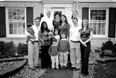 The Whole Family bw 2 (1 of 1)