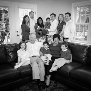 The Whole Fam - Inside - note SQUARE crop bw (1 of 1)