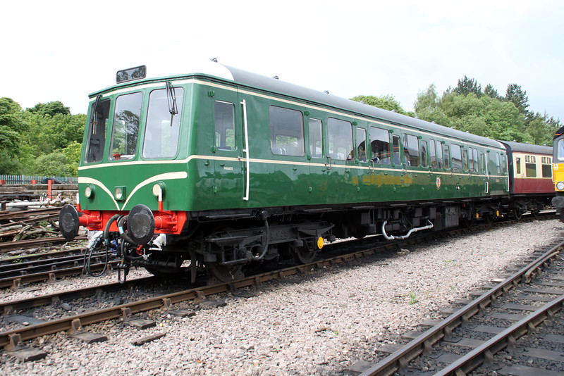 DMU W55012 sits at Walsingham on the 'Weardale Railway. 24/06/12