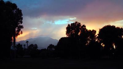 Raining hard on Mt. San Jacinto