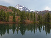 North Sister above North Matthieu Lake in the calm after the storm.