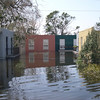 Early photos by boat after the flood waters begin to recede
