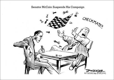 """Obama vs. """"suspended"""" McCain"""