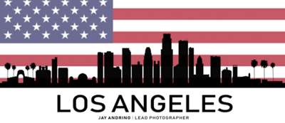 Los Angeles city skyline silhouette background