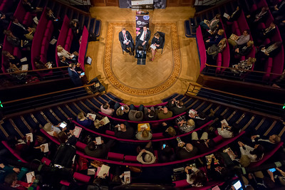 Full theatre in Royal Institution   by London Event Photographer Simon Callaghan Photography