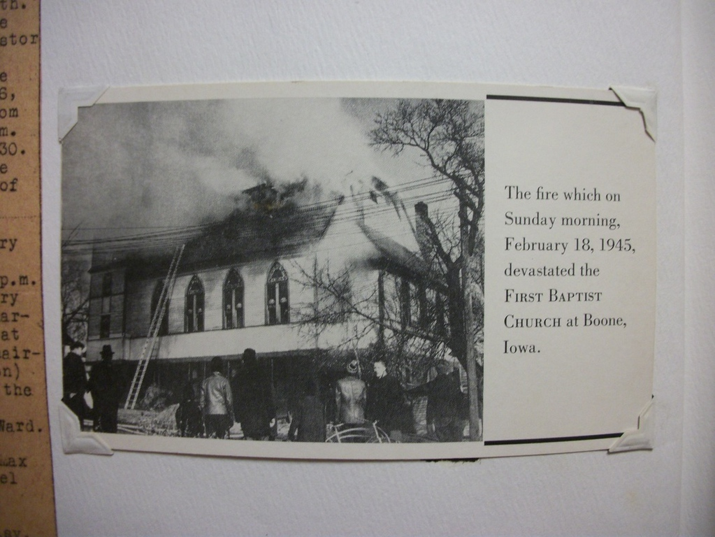 Baptist Church Fire