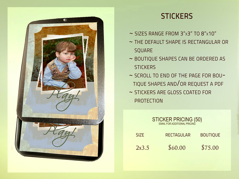 Stickers PRICING