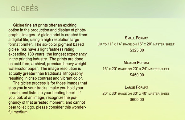 Giclee Pricing
