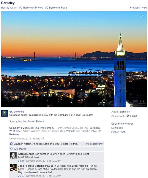 University of California Berkeley Facebook Page