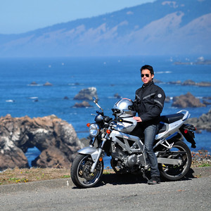 Motorcycling on the Pacific Coast Highway, USA
