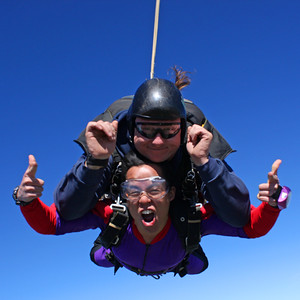 Skydiving in California, USA
