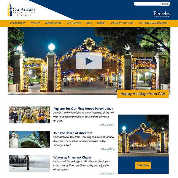 California Alumni Association Homepage