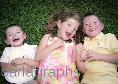 kids on grass, addie tilted-