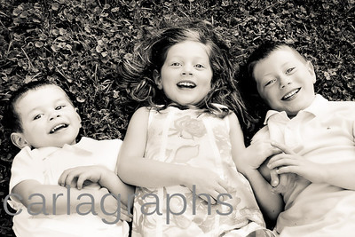 kids on grass, little softer BW-