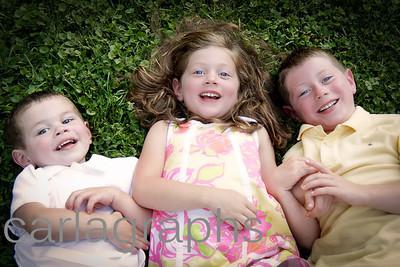 kids on grass, little softer-