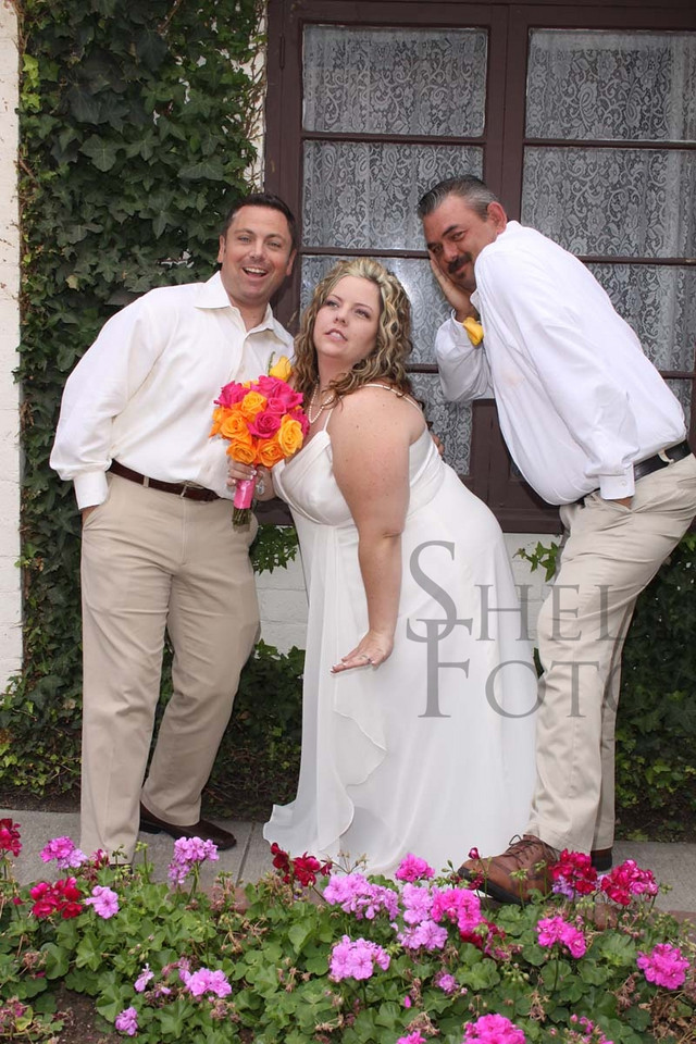 <h3>The bride does not fall far behind in the silliness department. Ha ha. See why I had a good time?
