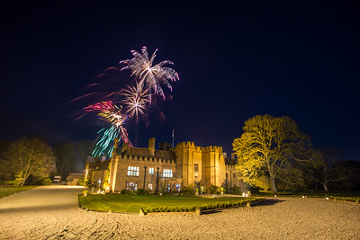 Wedding day fireworks at Leez Priory