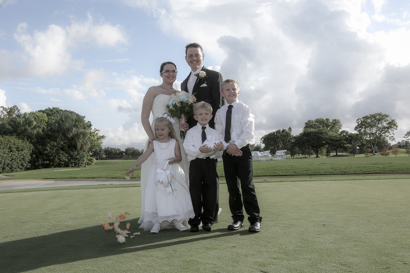 Wedding of Tara & David at the Atlantic National Golf Club in Lake Worth, FL <br /> October 16, 2016<br /> Photo by CandaceWest.com
