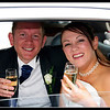 Mr & Mrs Chris & Karen Johnston enjoy a glass of champagne following their wedding ceremony.