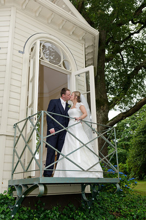 Mr & Mrs MacMillan steal a moment to themselves away from the bustle of the big day