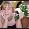 Bridesmaid, Beth Parkinson, takes a moment out at the wedding of her aunt, Karen Johnston