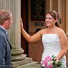 Mrs Karen Johnston chats to her new husband, Chris Johnston