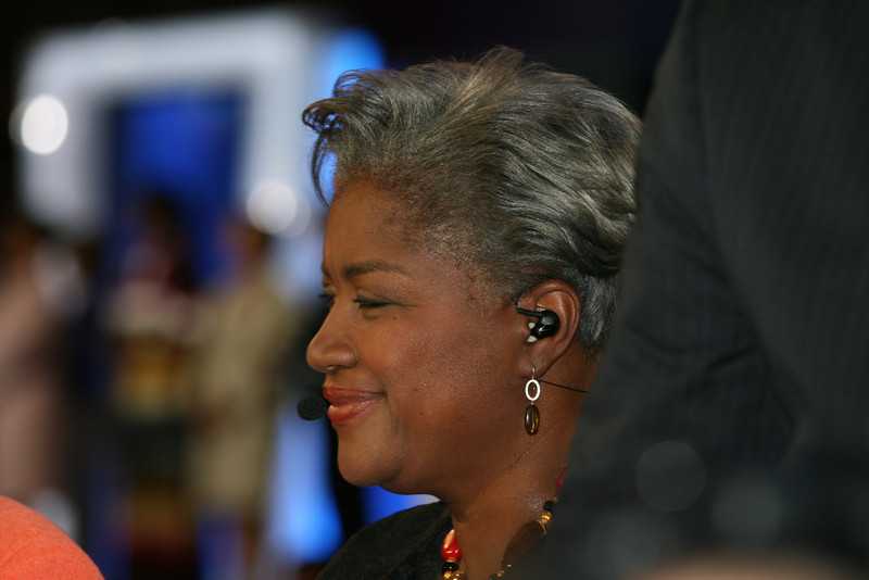 Donna Brazile NBC at the Democratic National Convention in Denver, Wednesday, August 27, 2008. (Anne-Marie Taylor Lathrop)