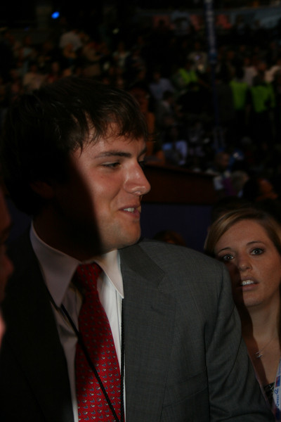 NBC reporter Luke Russert (son of Tim Russert) at the Democratic National Convention in Denver, Wednesday, August 27, 2008. (Anne-Marie Taylor Lathrop)