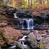 R.B. Ricketts Falls  <br /> <br /> Ricketts Glen State Park, PA<br /> <br /> 12 x 18 single white matted wood framed Print 18 x 24 - $275.00<br /> <br />  12 x 18 Print - $150.00