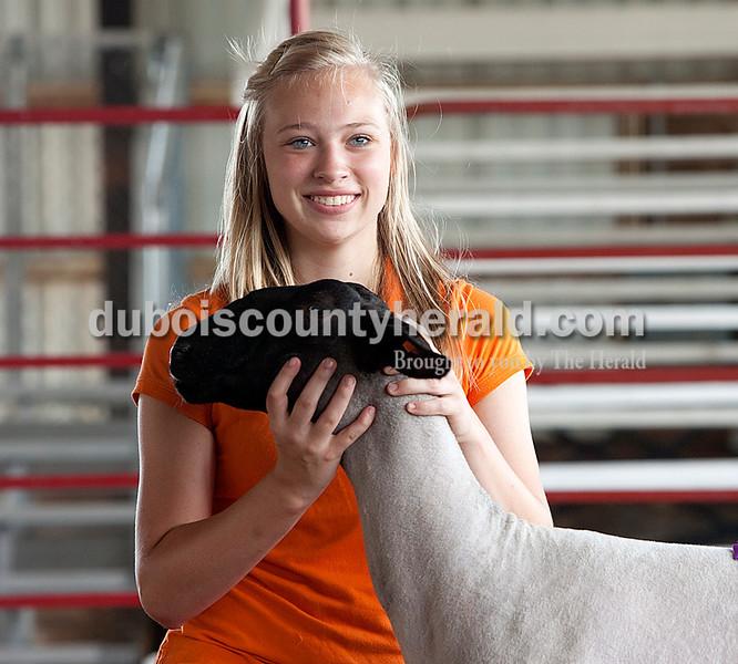 Jessica Hopf: crand champion market lamb — wool