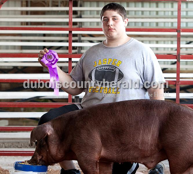 Collin Bowlin: master champion showman, grand champion show pig barrow