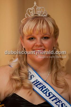 Olivia Corya/The Herald<br /> 2012 Miss Herbstfest Queen Rhea Fuhrman
