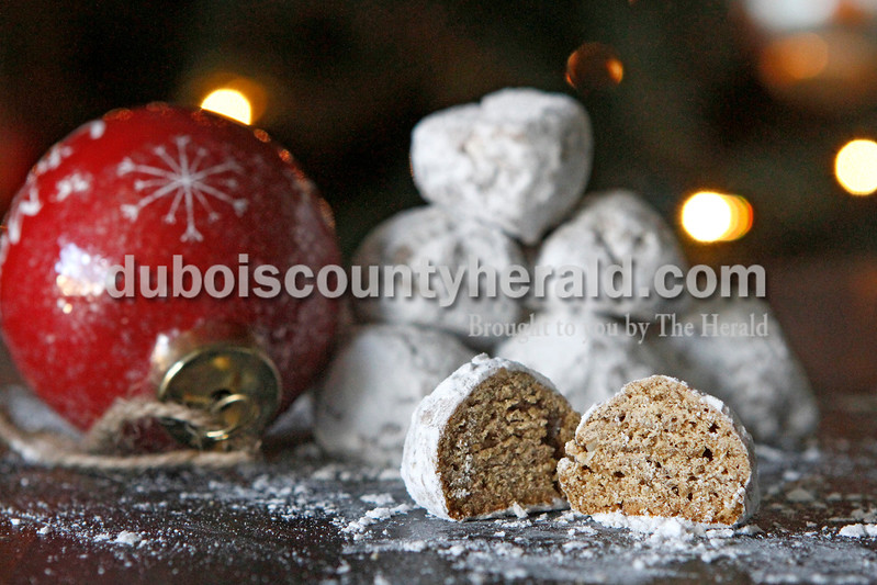 Justin Rumbach/The Herald<br /> Pfeffernüsse, a traditional German Christmas cookie, are made with ground black pepper, ground cinnamon, cloves and cardamom among other ingredients.