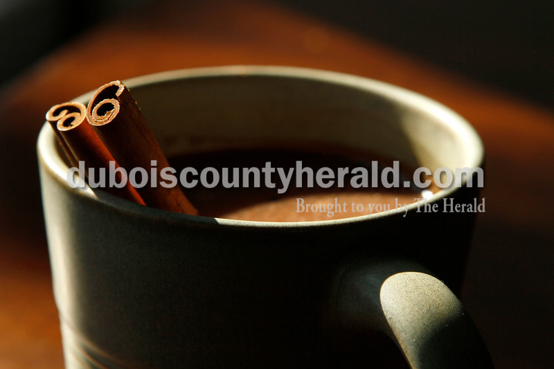 Justin Rumbach/The Herald<br /> Kick up your hot cocoa with cinammon sticks, chocolate curls or even ancho chile peppers.