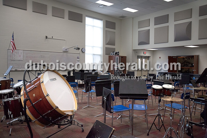 The new band room at Southridge High School. Rachel Mummey/The Herald