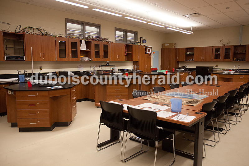 Teacher Ryan Wallace's new classroom will be used for biology and earth science classes at Southridge High School. Rachel Mummey/The Herald