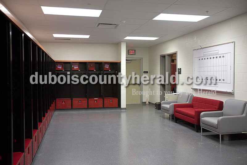 The new girls locker room at Southridge High School. Rachel Mummey/The Herald