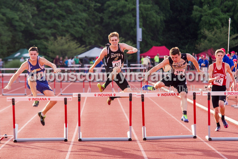 Jasper High School Junior Reid Milligan made a strong showing during the 300 meter hurdle event at the Indiana State track and field finals. Milligan placed 20th with a time of 40.26.