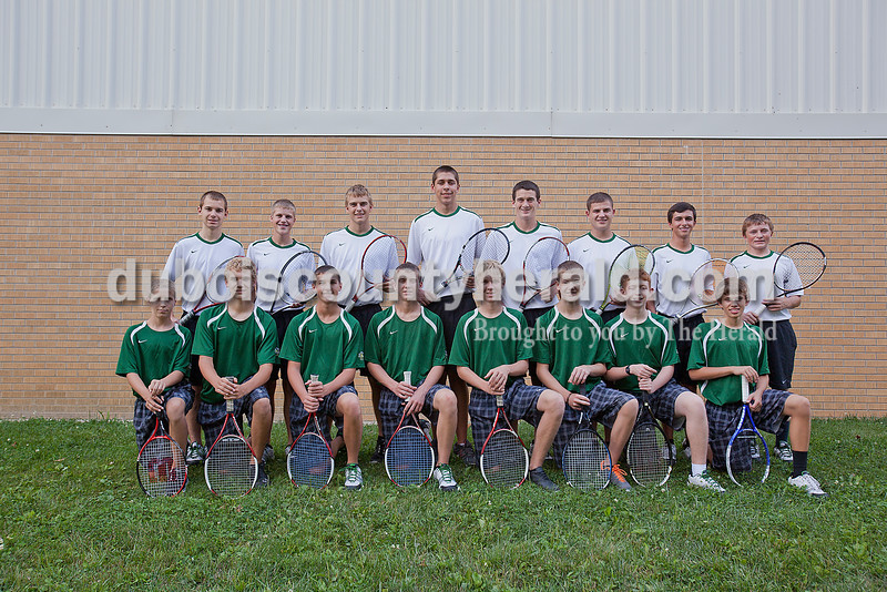 Members of the Forest Park boys tennis team are, from left, first row: Aaron Welp, Levi Hoffman, Reid Brown, Daniel Lusk, Zachary Wendholt, Collin Hochgesang, Brandon Olinger and Garrison Tretter. Second row: Dillon Hasenour, Blake Emmert, Aaron Meyer, Matthew Nonte, David Lusk, Travis Nord, Matt Miller and Zach Brosmer.