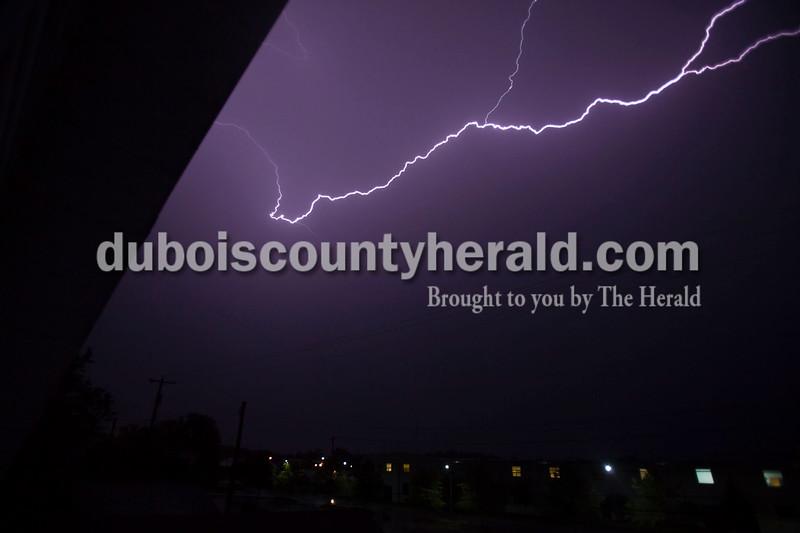 A storm cracked through Jasper on Saturday night.<br /> Caitlin O'Hara/The Herald