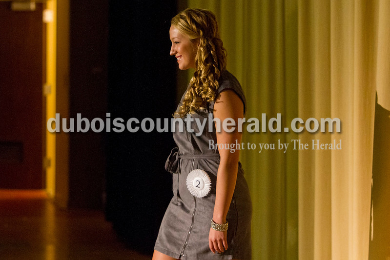 Taylor Miles of Holland, 18, competed in the Miss Holland Community Festival Scholarship Pageant on Sunday at Southridge High School.<br /> Miles won First Runner-up.  <br /> Caitlin O'Hara/The Herald