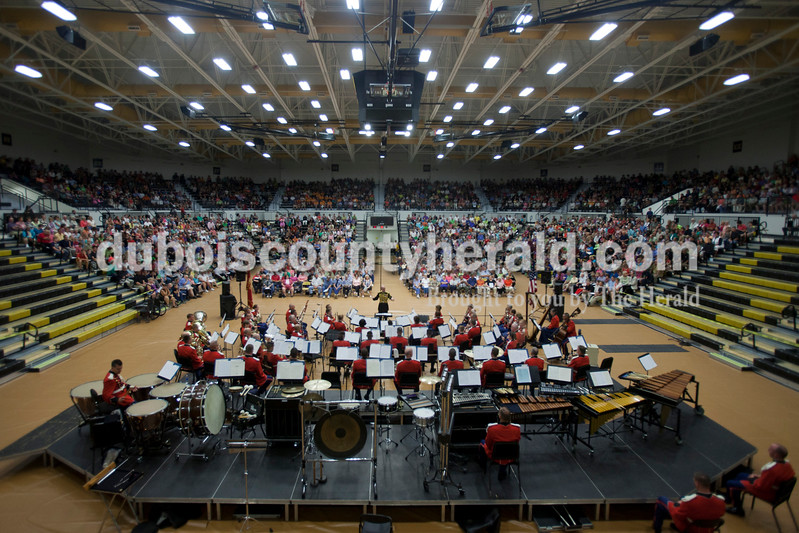 "Caitlin O'Hara/The Herald<br /> ""The President's Own"" United States Marine Band performed on Saturday at Jasper High School."