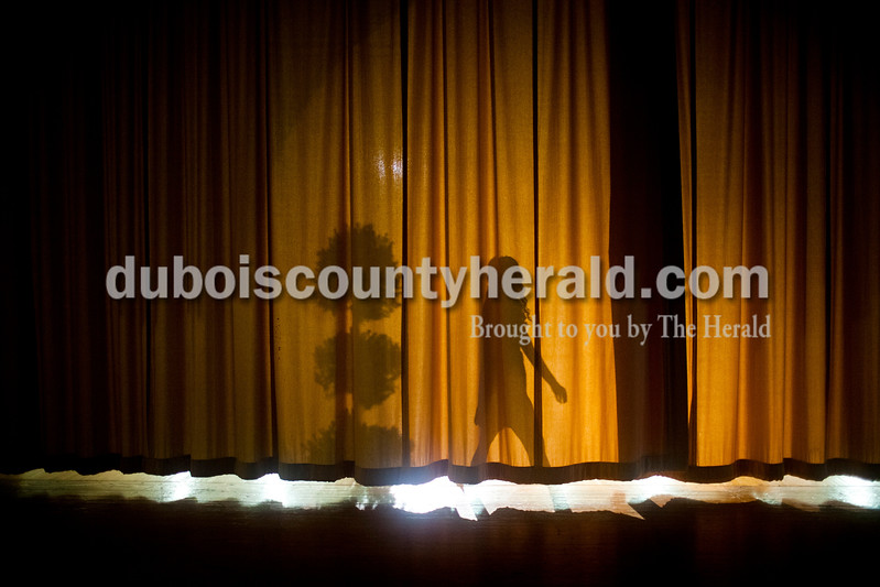 Bailey Barrett of Huntingburg, 16, walked into the spotlight during the Miss Holland Community Festival Scholarship Pageant on Sunday at Southridge High School. Barrett won Miss Photogenic.<br /> Caitlin O'Hara/The Herald