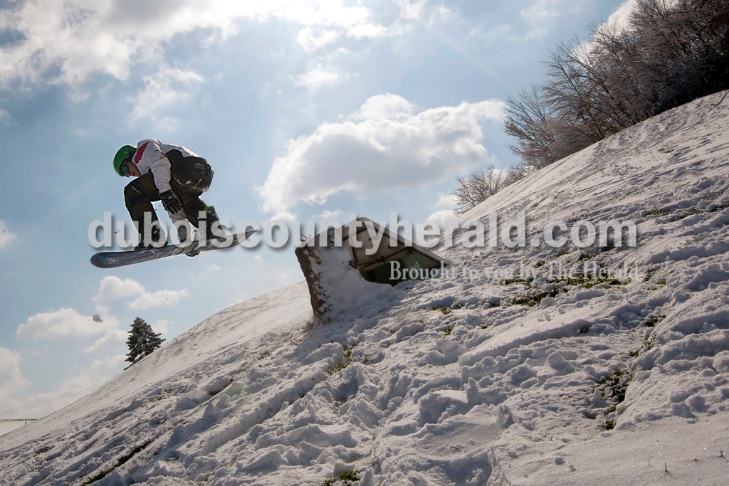 Martin Dixon of Jasper, 18, caught air off a jump at Buffalo Trace Golf Course. Heather Rousseau/The Herald