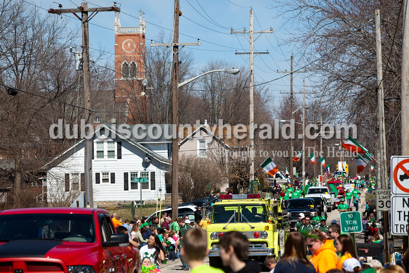 Over 40 floats made their way through the streets of Ireland on Sunday afternoon for the St. Patrick's Celebration parade. Alisha Jucevic/The Herald