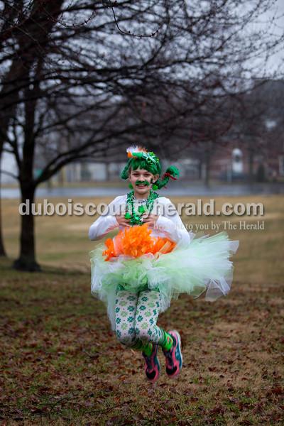 Kylee Weisheit of Ireland, 11,  during the St. Patrick's Celebration on Saturday in Ireland. Alisha Jucevic/The Herald