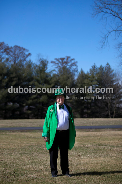 Honorary Mayor for the Day Allen Brescher of Ireland during Sunday's St. Patrick's Celebration festivities in Ireland. Alisha Jucevic/The Herald