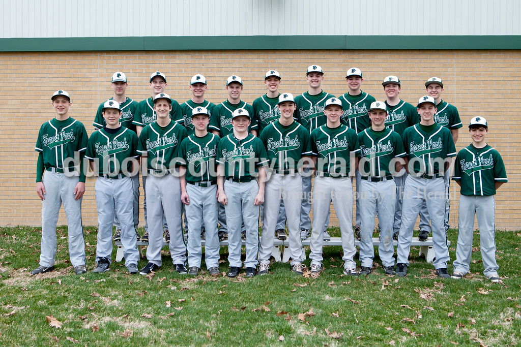 Members of the Forest Park boys baseball team are, from left, first row: Sam Englert, Trever Zink, Braydon Voegerl, Evan Dilger, Zach Brosmer, Reid Brown, Aaron Braunecker, Jacob Weisman, Daniel Lusk and Braxton Sicard. Second row: Andy Schlachter, David Lusk, Eli Knust, Bailey Hoffman, Damon Wilmes, Ben Wendholt, Jaxon Cronin, Noah Lindeman and Aaron Meyer.