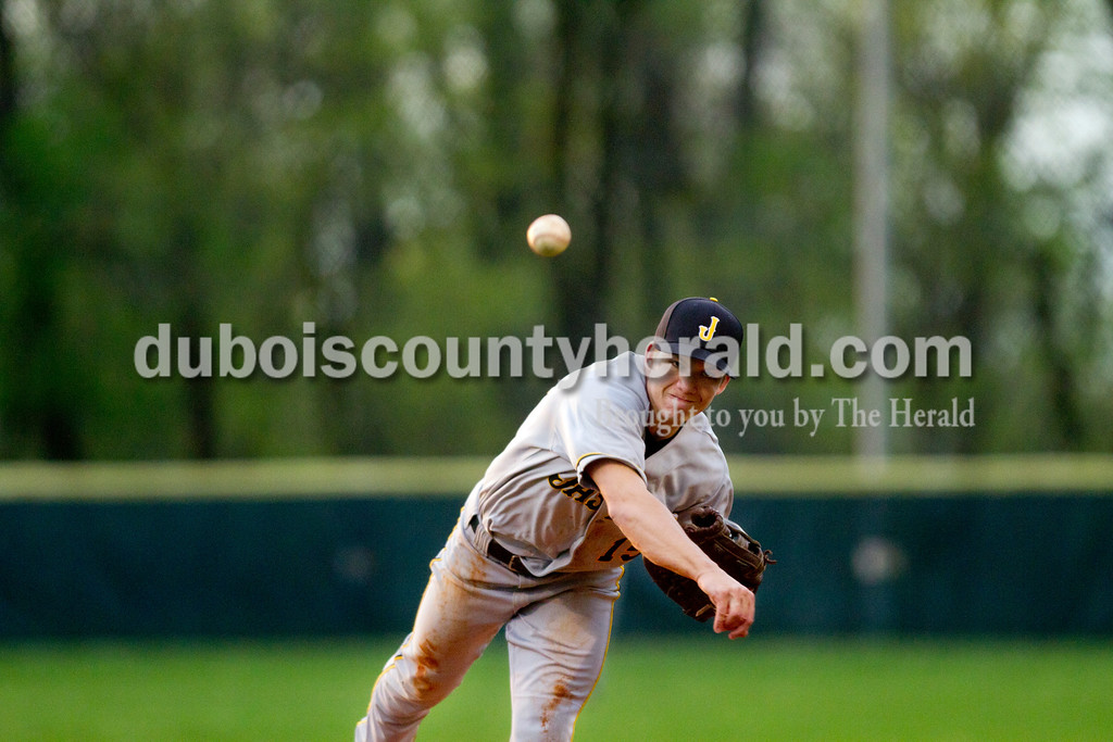 Jasper's Ben Moore pitched Monday evening's game against Heritage Hills in Lincoln City. The Wildcats won 12-0 in six innings. Ariana van den Akker/The Herald