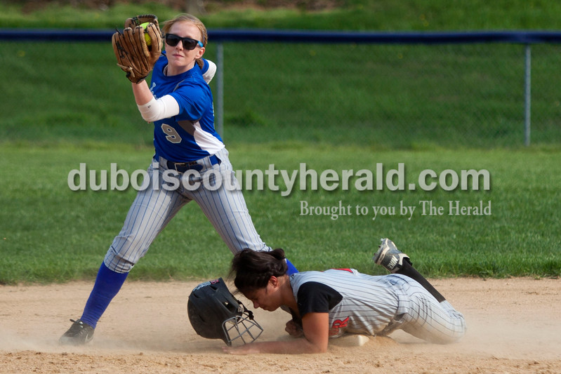 during Tuesday night's game against Barr-Reeve in Dubois. The Jeeps lost 8-2. <br /> <br /> Alisha Jucevic/The Herald